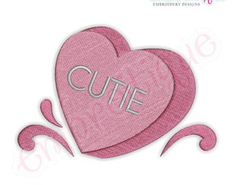 Candy Heart Cutie Filled- Instant Download -Digital Machine Embroidery Design