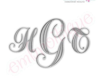 Penrose Monogram Font Set- Machine Embroidery Font Alphabet Letters  - Instant Download Machine embroidery design