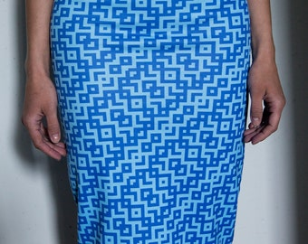 Blue pencil skirt size S Free Shipping