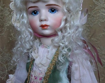 A. Marque Rare French Antique reproduction Porcelain doll by Emily Hart Grandmaster Dollmaker