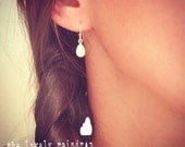 NEW - Sterling Silver Raindrop/Teardrop Earring - Minimal Earring - Perfect Gift - Minimalist - Simple Everyday - Gift For - Wedding Jewelry