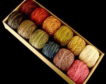 Valdani Perle Cotton Size 8 Embroidery Thread Cottage Garden Fruits Flowers Set