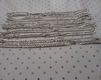 Sale 10pcs 17.5 inch 8mm silver plated necklace chain with lobster clasp