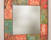 34 x 34 Copper And Metal Mirror
