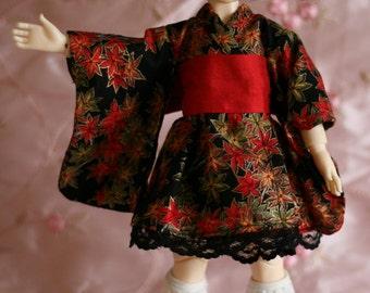 Autumn leaves - Wa Loli Lolita dress for Yosd BJD