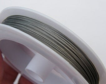 1 Roll tiger tail beading wire 70 metre silver/grey 0.45mm