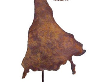 Angel Garden Stake or Wall Art, Decoration, Rust, Christmas, Art, Yard, Metal, Outdoor, Hanging, Lawn, Ornament, Rust, Yard, Iron, Memorial