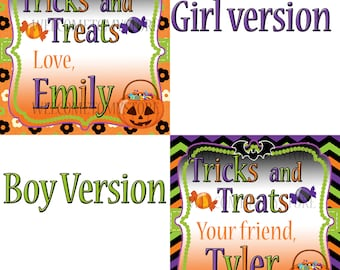 Halloween Personalized Favor Tag, Halloween Favor Tag
