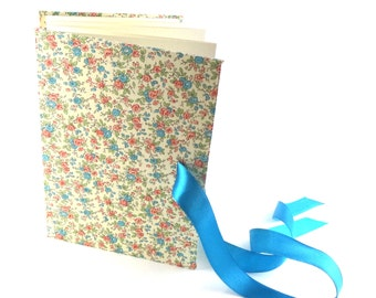 accordion book, turquoise floral wedding memory book, bridesmaid gift, baby photo book, small photo album 4x6