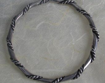 SALE Vintage Twisted Sterling Bangle Bracelet