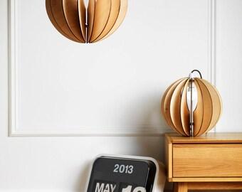 Wooden Light shade 'Sphery 30' lighting