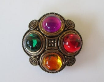 Large Colorful Jeweltone Button Cover