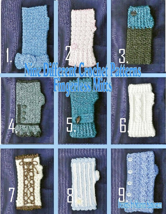 Nine Different Ways You Can Put Your Goals In Writing: Nine Different Fingerless Mitts