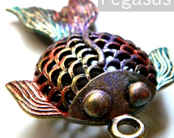 Rainbow koi etsy for Rainbow koi fish