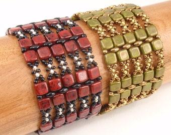 Beading Tutorial for Stonehenge Bracelet, jewelry pattern, beadweaving tutorials, instant download, PDF