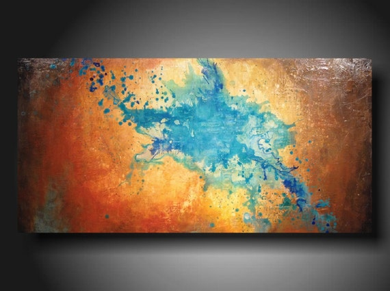 Spring SALE Art Original abstract Painting modern landscape painting  art painting large landscape painting 24 X 48