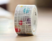 mt 2014 - mtfab Screen Printed Japanese Masking Tape - Colorful Dots and White Lines
