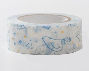 Japanese Washi Masking Tape - Starry sky Blue or Black (Choose one)