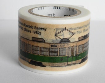 Limited Edition mt Japanese Washi Masking Tape - Electric Train / Electric Railway 35mm wide
