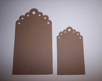 Fancy Tags Die Cut Chipboard Set of 8
