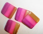 20 x 20 mm shell beads in pink, purple, and brown DIY jewelry beads or pendants