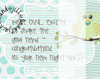 owl baby shower group gift card