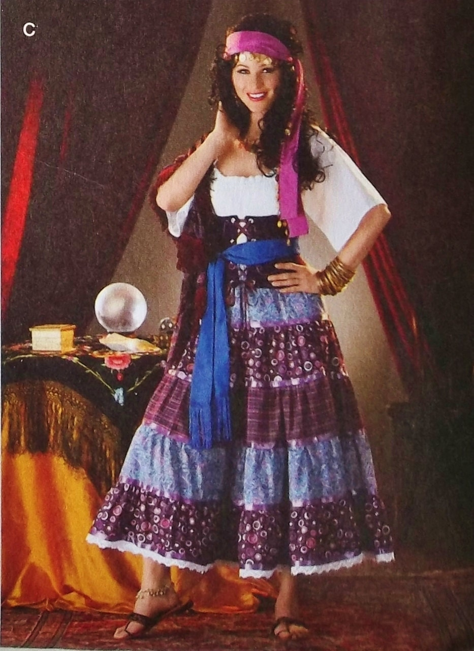 Gypsy Seer Costume Pattern Gypsy Fortune Teller Costume
