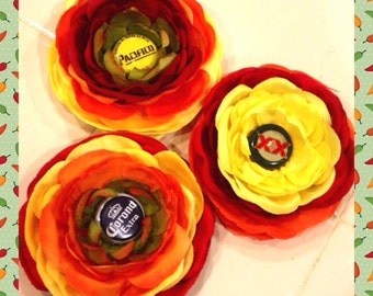 Corona Pacifico Dos Equis Beer Hair flower Large