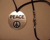 Unisex Peace Medallion Choker/Necklace