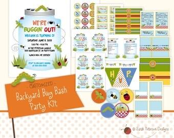 Custom Backyard Bug Bash Birthday Party Printables Package