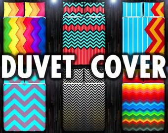 Chevron Duvet Cover, Chevron Bedding, Chevron Decor, Chevron Fabric, Chevron Bedroom, Chevron Room, Chevron Dorm, Chevron Quilt, Zig Zag