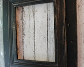 11x14 or 12x12 Wide Wood Uber Distressed Wood Frame Shabby Black on Black (PICK from 3 TRIMS!)