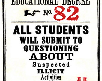 Educational Decree Wizarding Proclamation 82 (Illicit Activities) printable .pdf file