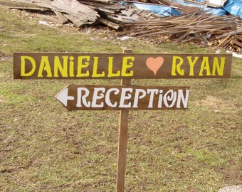 reception sign / rustic wedding sign /wood signs / wedding decoration / country wedding / mr and mrs sign / wedding signage / ceremony sign
