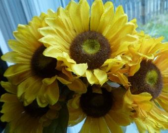 Flower Pen Set of 25 Sunflowers Pens Guest Book Pens Party Favors Bridal Shower