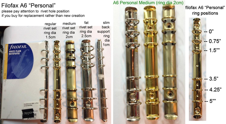 Filofax Standard Ring Binders A5 A6 Personal Pocket Mini And