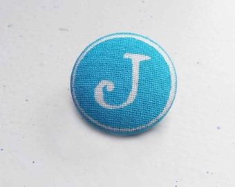 Custom Initial pin, Turquoise Typewriter Key tie pin, tie tack, brooch, lead and nickel free