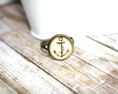 Nautical Ring, Anchor Ring, Adjustable  Ring, Boho Ring, Summer Jewelry, Summer Accessories, Gift
