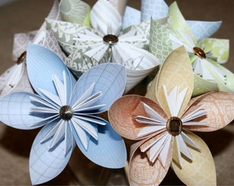 Lovely Origami flowers by Michele