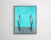 Swimming Pool Art Mid Century Hotel Vacation  Metallic Fine Art Photography