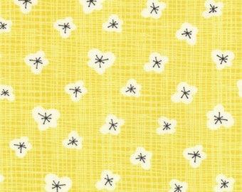 BLUEBIRD PARK calico Fountain sunshine yellow modern quilt fabric Kate & Birdie blender 1 yard 13106-16