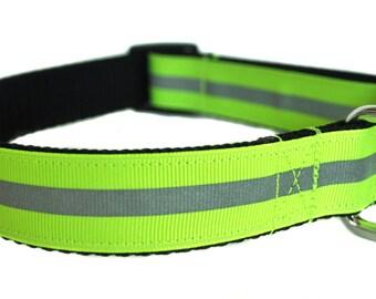 Yellow Reflective Dog Collar