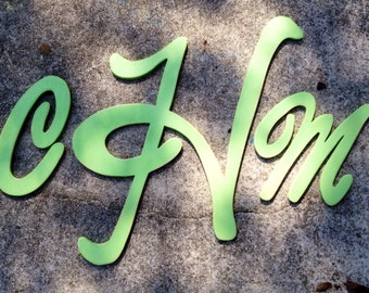 "14"" 18"" 14"" painted set of wooden monogram letters"