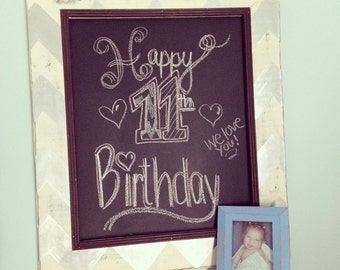 SALE* 11x14 Painted and distressed chalkboard with trim *****10 dollars off this weeks ******
