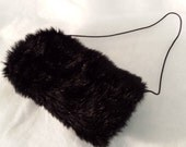 Toddler, Child size 2 to 5 White or Black Faux Fur Muff hand warmer UniMItten
