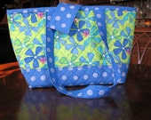 Color Me Floral Lime green Modern tote fabric quilted handbag