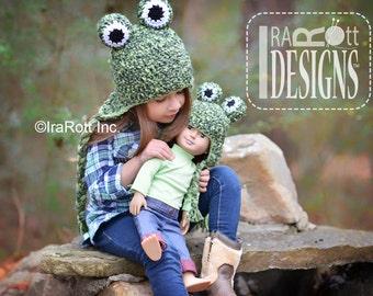 CROCHET PATTERN Pistachio the Frog Hat Crochet PDF Pattern Instant Download