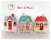 Mini Cottages, Paper piecing Ornament/Sachet Pattern