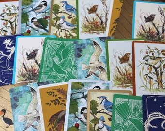 Vintage Playing Cards BIRDS paper ephemera rooster peacock pelican winter scrapbooking collage altered art paper Crafts 2 each of 10 designs