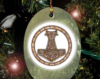 Collectable Thor's Hammer, Viking Heathen Asatru Yule Holiday Ornament/Car Charm